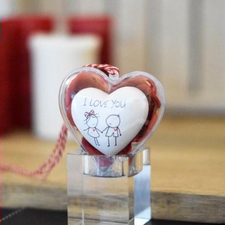 Szív - i love you 8 cm szívtartóban