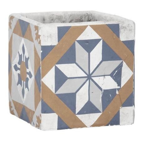 Mediterrán stílusú mozaikos virágcserép S  AC176