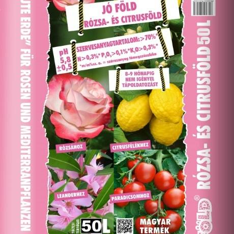Jó Föld Rózsa és Citrusföld RO50 - 50 l ZSÁKOS