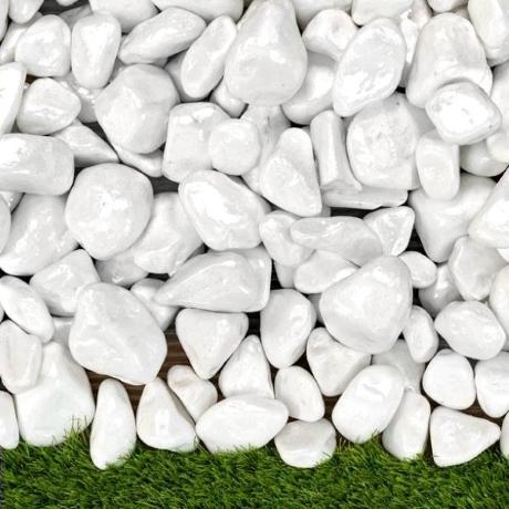 Lakkozott fehér kő 6-10 cm 15 kg ZSÁKOS