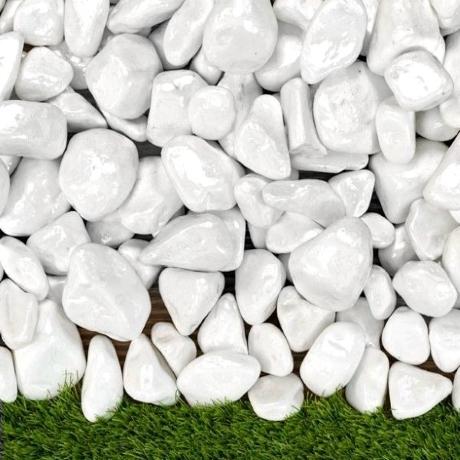 Lakkozott fehér kő 3-6 cm 15 kg ZSÁKOS